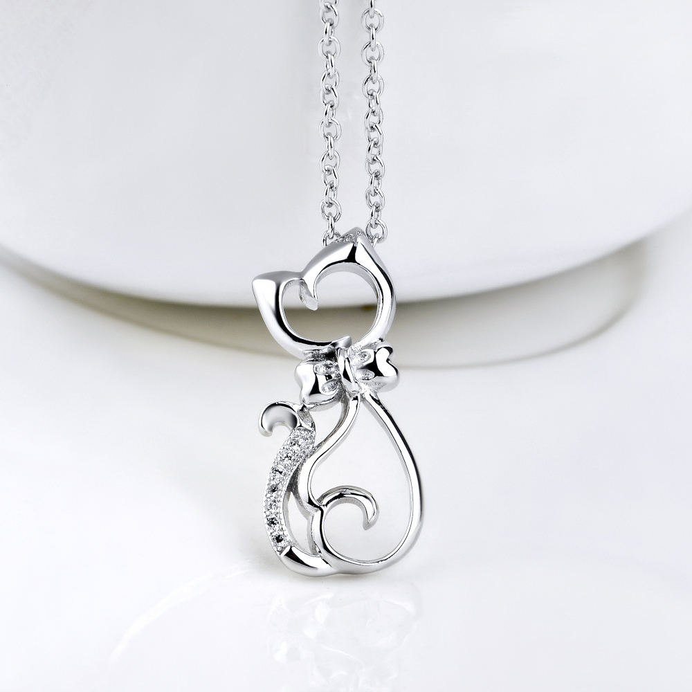 Pure 925 sterling silver crystal cat pendants necklaces when you pure 925 sterling silver crystal cat pendants necklaces mozeypictures Choice Image