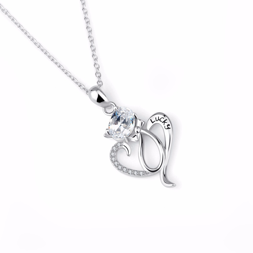 cat gift lovers heart crystal women when you silver cute pendants pet sterling yfn product necklaces for love necklace lucky bowknot index