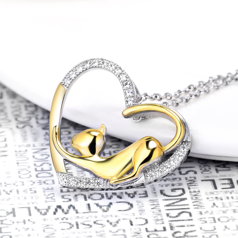 100 real pure 925 sterling silver crystal heart pendants necklaces aloadofball Choice Image