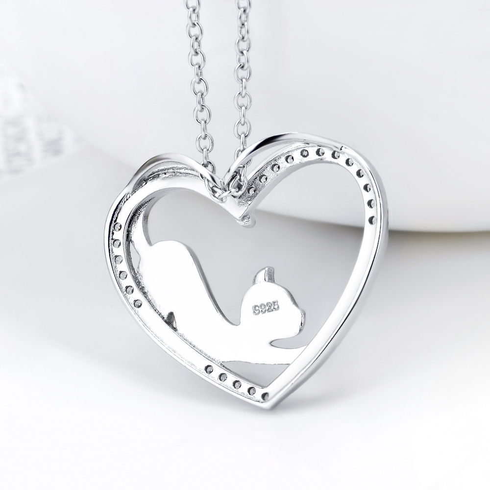 100 real pure 925 sterling silver crystal heart pendants necklaces 100 real pure 925 sterling silver crystal heart pendants aloadofball Gallery